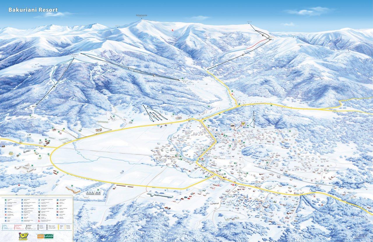 Карта склонов «Бакуриани». Фото: bakuriani.ge