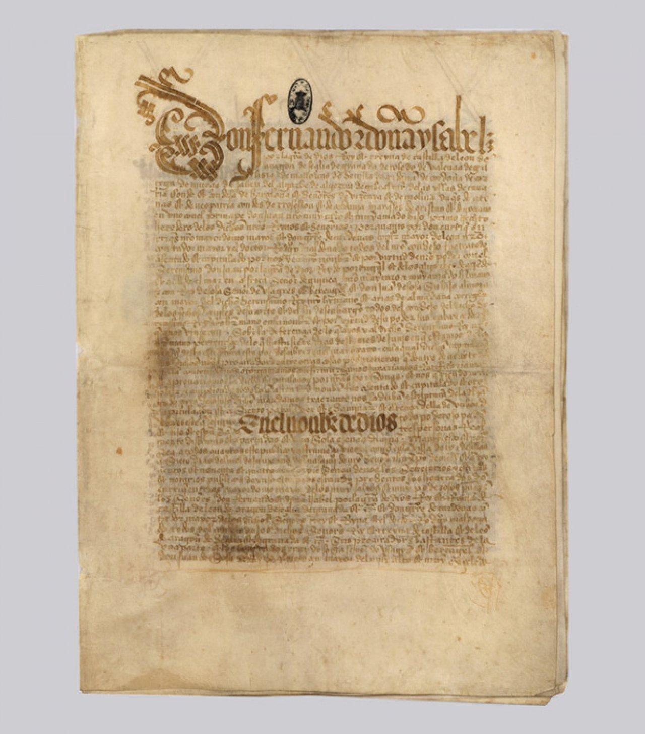 Тордесильясский договор, заключённый 7 июня 1494 года. Предоставлено kreml.ru