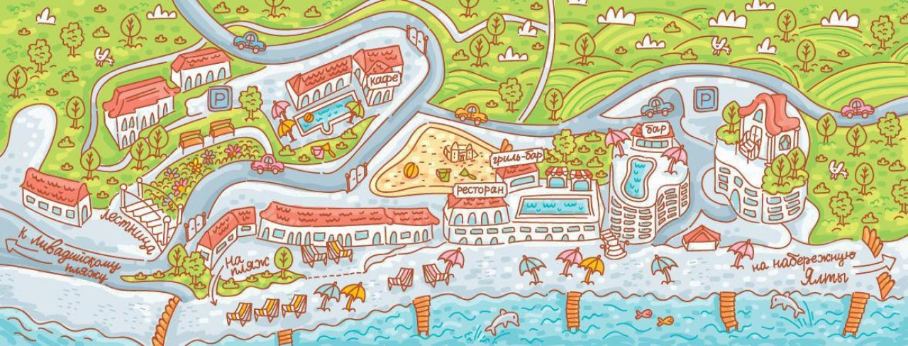 Карта курортного комплекса «Ливадийский»